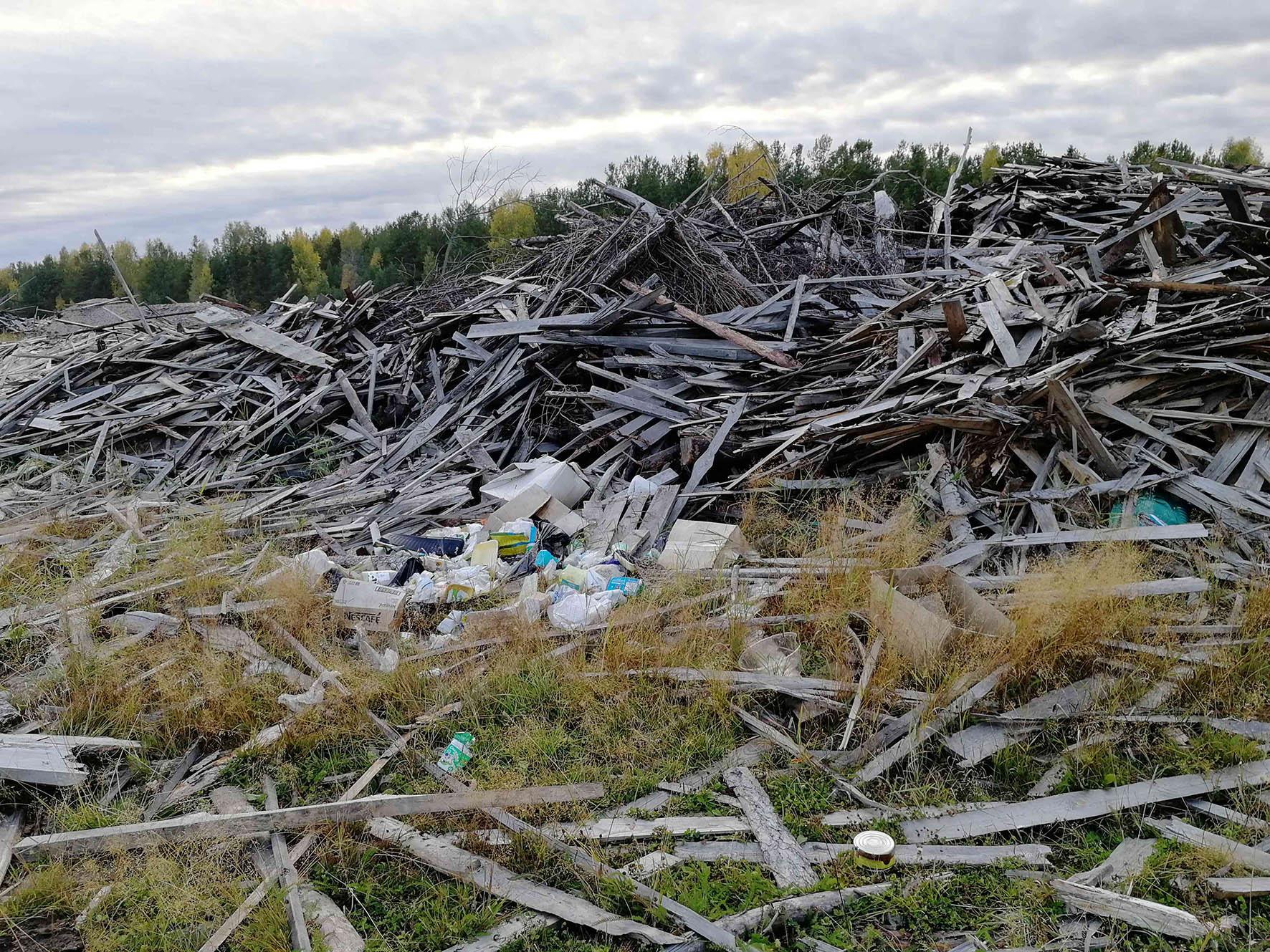 В Кировской области обнаружена свалка размером в несколько футбольных полей