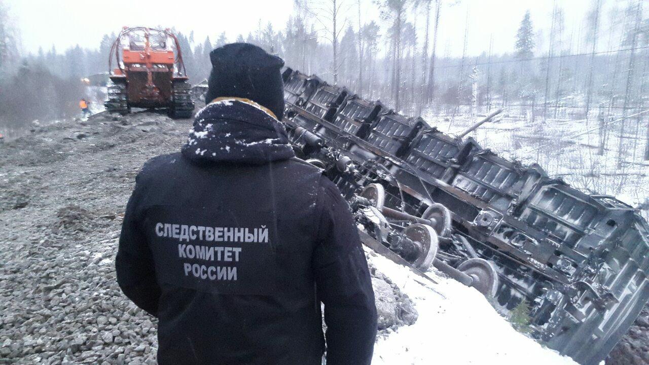 В Кировской области сошел с рельс грузовой поезд