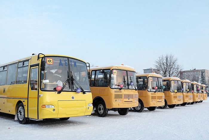 В Кировской области появилось 38 новых школьных автобусов