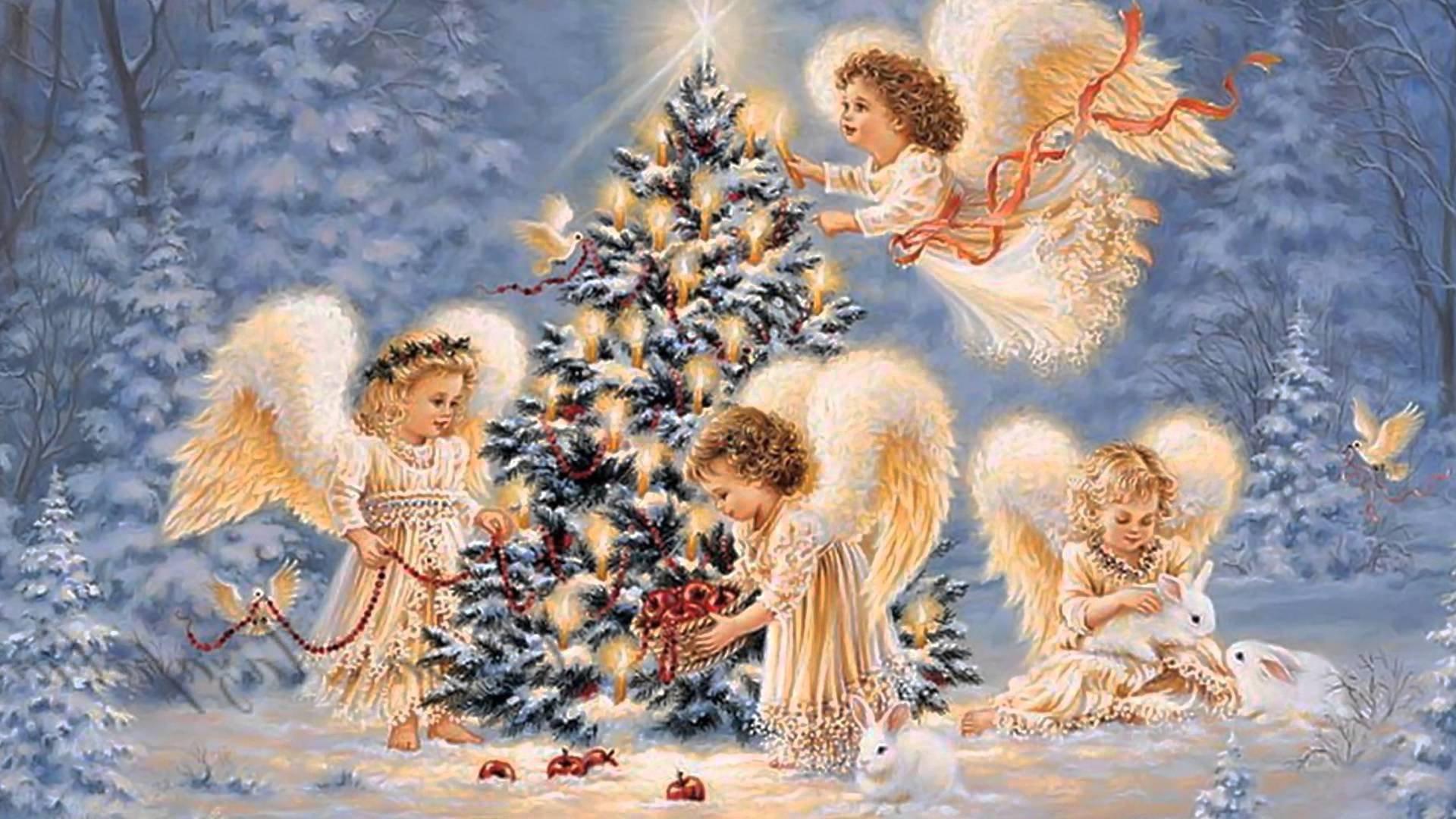 Сделать картинки, открытки на рождество дети