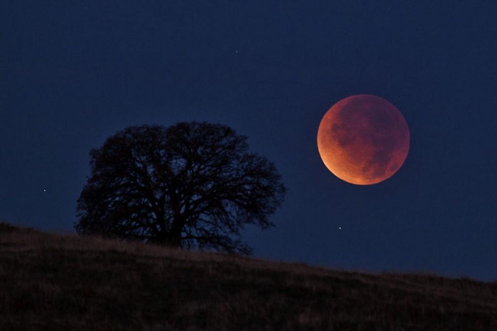 Луна вот-вот станет красной