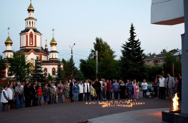Парк Победы озарили свечи памяти