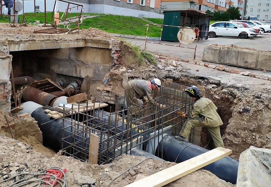 КТК заменила два крупных участка городских теплосетей