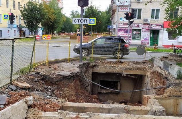 Октябрьский проспект перекроют с 16 по 19 августа для перекладки теплотрассы