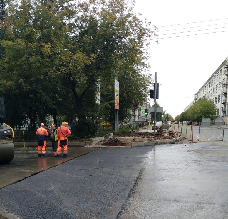 Октябрьский проспект открыт для движения после перекладки теплотрассы