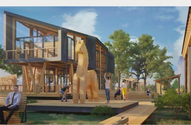 В центре Кирова предложили установить огромную Дымковскую игрушку из дерева